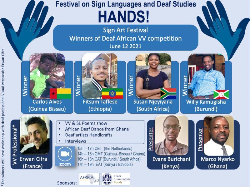 Poster advert of Hands! content